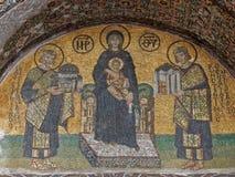 ISTAMBUL, TURQUIA - 23 DE JANEIRO: Mosaico da Virgem Maria dentro do Hagia Sophia o 23 de janeiro de 2015 em Istambul, Turquia Fotos de Stock