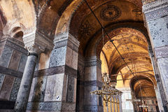 Istambul, Turquia - 27 de julho de 2015: Interior do museu de Ayasofya Fotografia de Stock