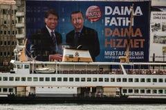 ISTAMBUL, TURQUIA - 27 DE MARÇO DE 2014: Eleição Bann da autoridade local fotos de stock royalty free
