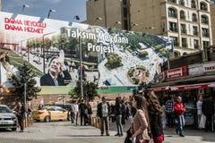 ISTAMBUL, TURQUIA - 27 DE MARÇO DE 2014: Eleição Bann da autoridade local imagem de stock royalty free