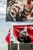 ISTAMBUL, TURQUIA - 27 DE MARÇO DE 2014: Eleição Bann da autoridade local imagem de stock