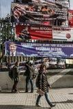 ISTAMBUL, TURQUIA - 27 DE MARÇO DE 2014: Eleição Bann da autoridade local fotos de stock
