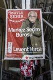 ISTAMBUL, TURQUIA - 27 DE MARÇO DE 2014: Eleição Bann da autoridade local imagens de stock royalty free