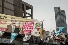 ISTAMBUL, TURQUIA - 27 DE MARÇO DE 2014: Eleição Bann da autoridade local fotografia de stock