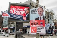 ISTAMBUL, TURQUIA - 27 DE MARÇO DE 2014: Eleição Bann da autoridade local foto de stock
