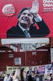 ISTAMBUL, TURQUIA - 27 DE MARÇO DE 2014: Eleição Bann da autoridade local foto de stock royalty free