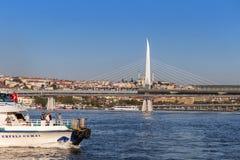 Istambul, Turquia - 23 de outubro de 2017: Passo de Bosphorus, Istambul, Turquia Fotos de Stock