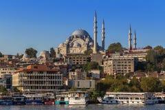 Istambul, Turquia - 23 de outubro de 2017: Passo de Bosphorus, Istambul, Turquia Imagem de Stock