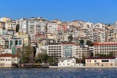 Istambul, Turquia - 23 de outubro de 2017: Passo de Bosphorus, Istambul, Turquia Imagens de Stock