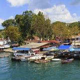 ISTAMBUL, TURQUIA, O 24 DE AGOSTO DE 2015: Vista sobre o porto no kavagi Foto de Stock Royalty Free