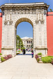 Istambul, Turquia A porta da entrada ao palácio das sultões do otomano, palácio de Dolmabahce Foto de Stock Royalty Free