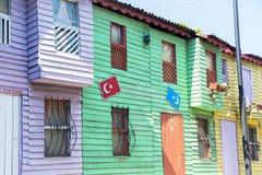 Istambul wood houses Royalty Free Stock Photo