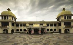 Istana nagara. ROYAL PALACE, KUALA LUMPUR, MALAYSIA- SEPT 2013:-Royal residance and ceremonial palace. September 2013 Malaysia. the colourful royal residance for royalty free stock image