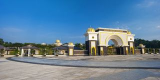 ISTANA NEGARA NATIONAL PALACE - KUALA LUMPUR. Istana Negara or the National Palace is the official residence of the King of Malaysia. This majestic edifice at royalty free stock photos