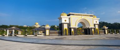 ISTANA NEGARA NATIONAL PALACE - KUALA LUMPUR. The Istana Negara is the official residence of the Yang di-Pertuan Agong, the monarch of Malaysia. It is located stock photo