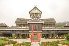 The Istana Seri Menanti. Also known as the Istana Lama Seri Menanti, is one of the famous landmarks in Negeri Sembilan. It is a timber palace constructed Royalty Free Stock Photos