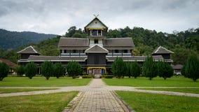 Istana Seri Menanti. NEGERI SEMBILAN, MALAYSIA - CIRCA JANUARY 2015. Old wooden sultan palace Sri Menanti in Negeri Sembilan, Malaysia Royalty Free Stock Photo