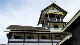 Istana Seri Menanti. NEGERI SEMBILAN, MALAYSIA - CIRCA JANUARY 2015. Old wooden sultan palace Sri Menanti in Negeri Sembilan, Malaysia Stock Image