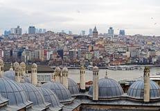 Istanboel bij Schemer stock fotografie
