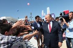 Istanboel Burgemeester Kadir Topbas Stock Fotografie