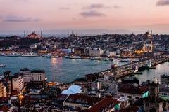 Istanboel, de Gouden Hoorn Royalty-vrije Stock Afbeeldingen
