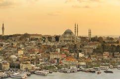 Istanboel, de mening van de oude stad Stock Afbeeldingen