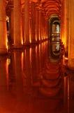Istanbul, Basilica Cistern Royalty-vrije Stock Afbeeldingen