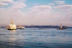 Istanboel Mening van Bosphorus van de Aziatische kant Stock Afbeeldingen