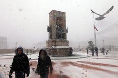 Istanboel onder Sneeuw Royalty-vrije Stock Foto