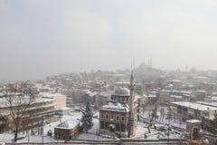 Istanboel onder Sneeuw Royalty-vrije Stock Afbeelding