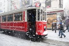 Istanboel op een sneeuwdag Royalty-vrije Stock Afbeeldingen