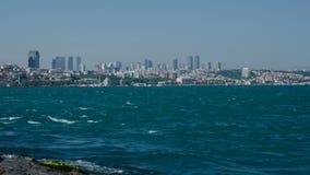 Istanboel Overzees verkeer in Bosphorus-Straat stock videobeelden