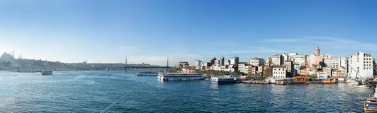 Istanboel - panorama Stock Afbeelding