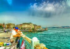 In Istanboel in Turkije Royalty-vrije Stock Afbeelding