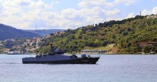 ISTANBOEL, TURKIJE, 24 AUGUSTUS, 2015: De Militaire boot van Turkije Royalty-vrije Stock Afbeelding