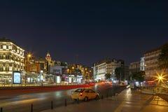ISTANBOEL, TURKIJE, 24 AUGUSTUS, 2015: Galatadistrict, Galata-toren Royalty-vrije Stock Fotografie