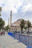 Istanboel, Turkije, 23 Augustus, 2015 Mensen dichtbij Aya Sofya Stock Afbeeldingen