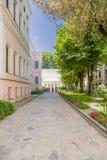 Istanboel, Turkije De binnenplaats van het paleis complex van Dolmabahçe Stock Fotografie
