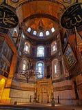 ISTANBOEL, TURKIJE - JANUARI 23: Binnenhagia Sophia op 23 Januari, 2015 in Istanboel, Turkije Stock Fotografie