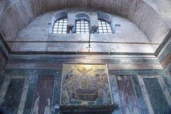 ISTANBOEL, TURKIJE - MAART 25, 2012: Binnenland van Kerk van Christus de Verlosser Royalty-vrije Stock Afbeeldingen