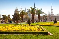 ISTANBOEL, TURKIJE - MAART 31, 2015 - Blauwe Moskee in Sultanahmet i Royalty-vrije Stock Foto's