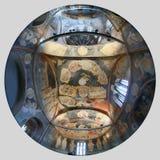 ISTANBOEL, TURKIJE - MAART 25, 2012: Fresko in Kerk van Christus de Verlosser Royalty-vrije Stock Foto