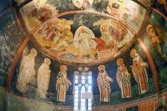 ISTANBOEL, TURKIJE - MAART 25, 2012: Fresko in Kerk van Christus de Verlosser Stock Afbeeldingen