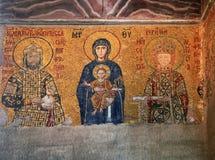 ISTANBOEL, TURKIJE - MAART 28, 2012: Mozaïek in Kathedraal van Hagia Sophia Stock Afbeelding