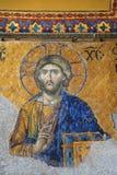 ISTANBOEL, TURKIJE - MAART 28, 2012: Mozaïek van Jesus Christ in Kathedraal van Hagia Sophia Stock Afbeelding