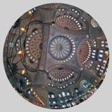 ISTANBOEL, TURKIJE - MAART 24, 2012: Plafond van de Blauwe Moskee Stock Fotografie