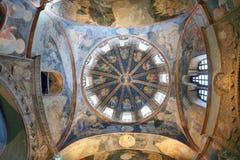 ISTANBOEL, TURKIJE - MAART 25, 2012: Plafond van de Kerk van Christus de Verlosser Stock Afbeeldingen