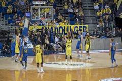 Istanboel/Turkije - Maart 20, 2018: Professionele het basketbalspeler van Marko Guduric voor Fenerbahce royalty-vrije stock afbeelding