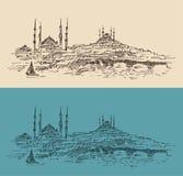 Istanboel, Turkije, stadsarchitectuur Stock Afbeelding