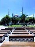 Istanboel, Turkije Sultan Ahmet Camii-vierkant royalty-vrije stock afbeeldingen